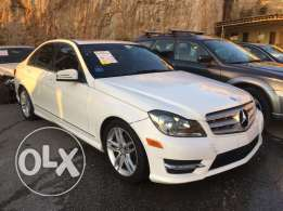 mercedes C250 White 2013 Look AMG very clean car