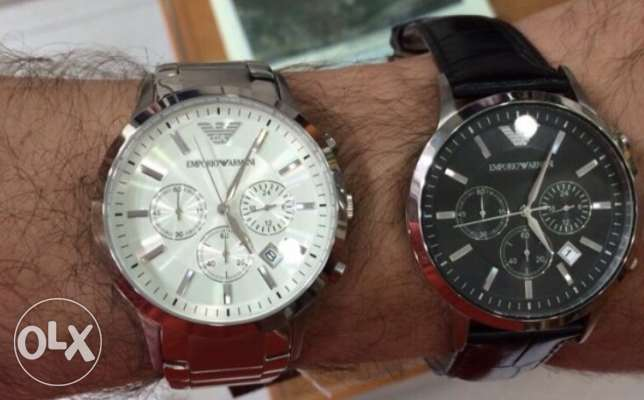 2 original Emporio Armani watches on 70% discount