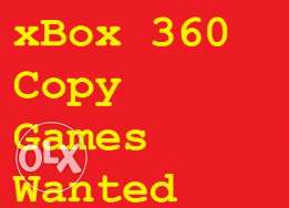 Wanted xBox 360 Copy Games (Dealer Price)
