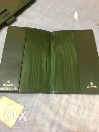 vintage authentic 1960s Rolex leather bifold currency/passport holder