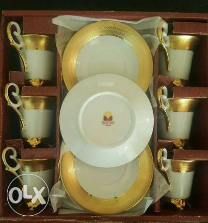 Coffee set Gold collection#24 CT Gold plated#new not used#for 120$ زلقا -  2