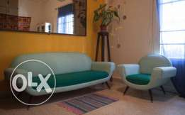 Vintage Renovated Danish Couch from 1950s still New
