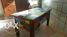 Colorful Leather table