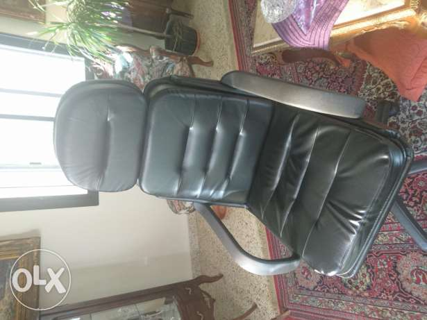 Leather Chair Black New