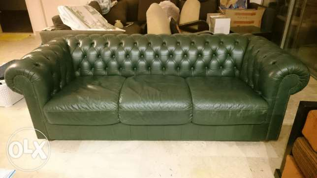 Chesterfield couch Natuzzi جل الديب -  1