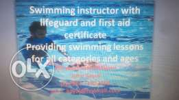 swimming instructor leisure club non members and members