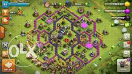 Clash of Clans Town Hall Level 9 with gems