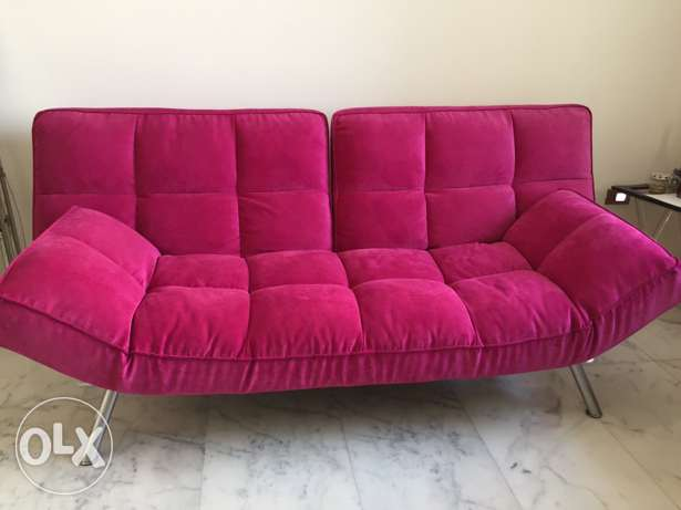 Pink Couch/Sofa Bed