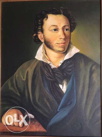Oil on canvas reproduction for the POET PUSHKIN Orest Kiprensky