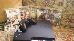 ps3 500gb with 5 games