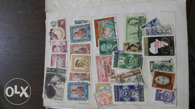 Old and Rare stamps from all around the globe around ( 1000 stamp)