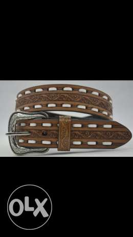 western floral leather belts cowboy كوبوي