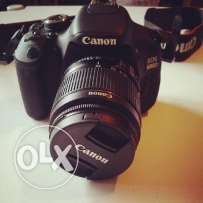 canon 600d with 2 lens 18-55 $ 75 - 300 + bag + memory 4gb ktir ndife