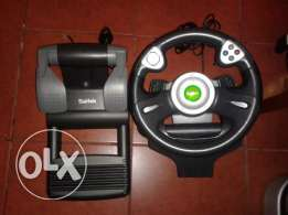 first xbox saitek steering wheel + clutches