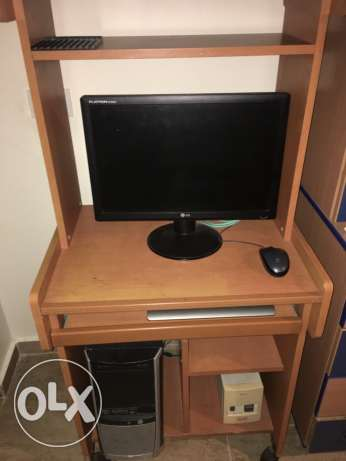 pc with table