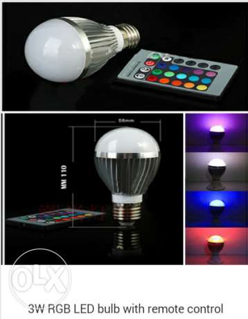 Colorful led bulb راس  بيروت -  1