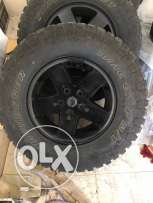 "33' tires and 17"" wrangler wheels for sale"