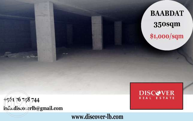 WareHouse For Sale in Baabdat 350sqm