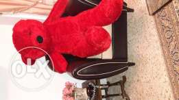 A huge red teddy bear ,a perfect valentine gift