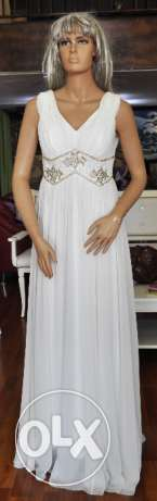 White Evening Gown - Suitable for Wedding or Reception - Sample Sale