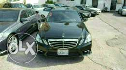 Mercedes E350 luxury package 2010 Amg black interior black camera full