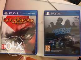god of war and need for speed for ps4