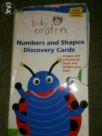 Baby einstein discovery flashcards (numbers and shapes) عبداللطيف البيسار -  1