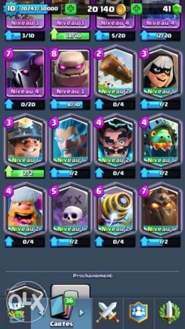Account Clash Royale arena 10