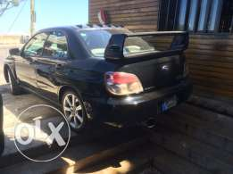 subaru impreza 2006 black 4wd WRX TURBO