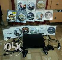 PS3 +2 controllers +12 games (Good Condition)
