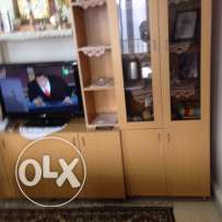 vitrine for setting room good quality wood used to put TV & other acce