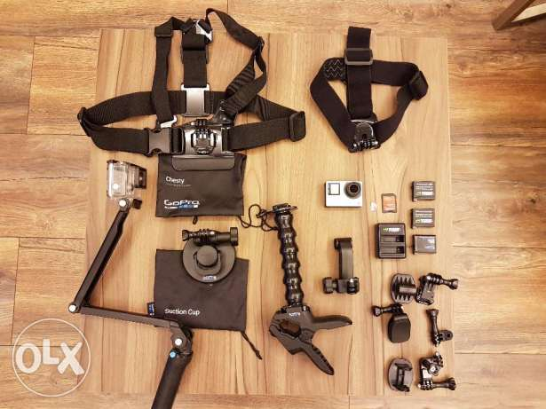 GoPro Hero 4 Silver Camera used for hours with all the accessories