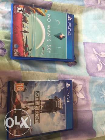 two PS4 games in neet condition for 40 dolars