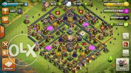 clash of clans TH11 with 3400 gems