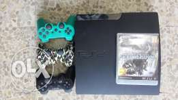 ps3 with 3 controllers and1 games