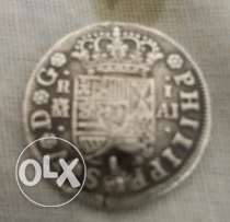 Very Old and rare spanish coin year 1744