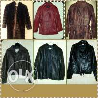 Real leather jackets artificial fur
