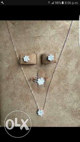 New natural Diamond set on rose gold 18K