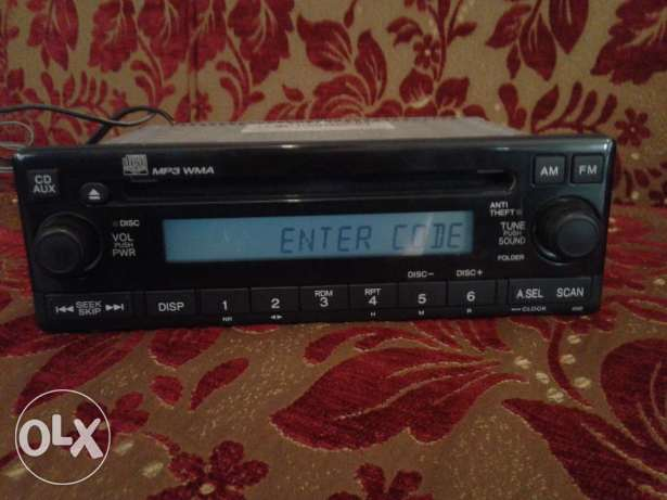 for sale radio cd mp3 wma honda النبطية -  1