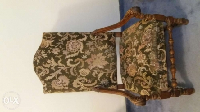 Antique Wood Armchairs (2x)