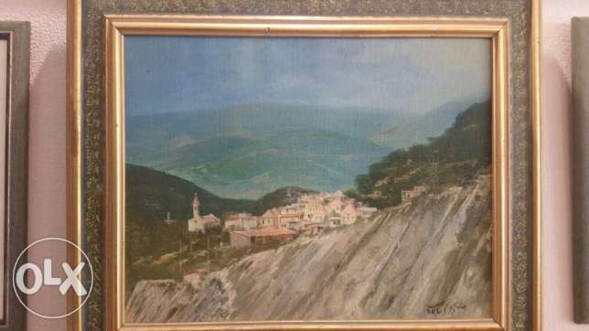 Old oil painting by Jamal Jarrah 1986