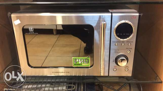 microwave stainless campomatic 28 liters NEW