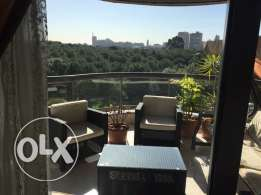luxurious Fully furnished App. for rent, facing horsh Beirut