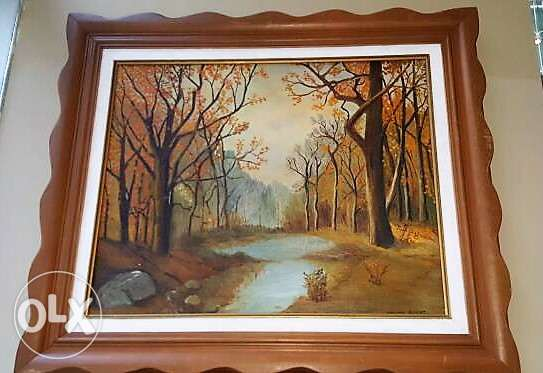 Canadian Furniture - Framed Oil Painting
