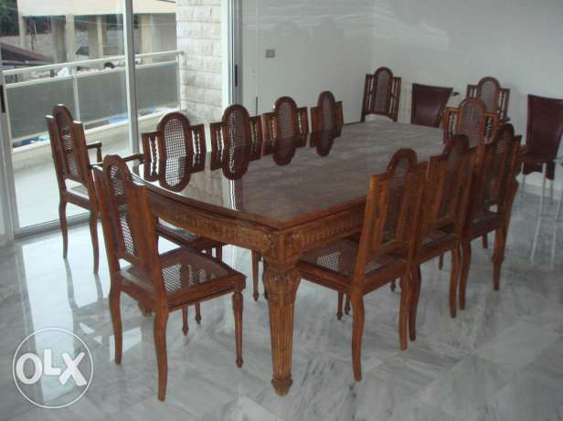 Hand made hand curved 40 years old well maintained furniture