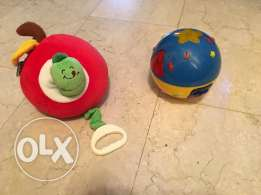 ball with 8 songs and 4 animal sounds , apple with worm musical mobile