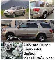 2005 toyota LAND CRUISER sequoia 4x4, 8 seats limited