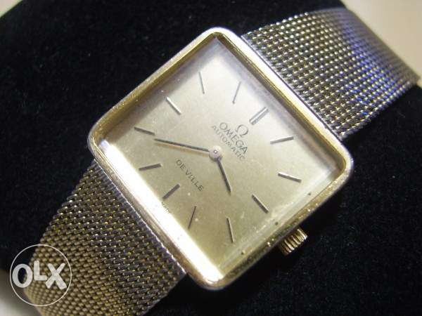 Vintage 1960's Swiss Omega De Ville Automatic gold plated men's watch