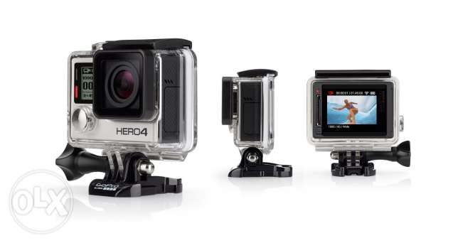 Gopro hero4 silver + 2 batteries + floater + all original accessories