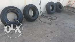 4 Marshal tires for off road. size: M/T 265/75/16